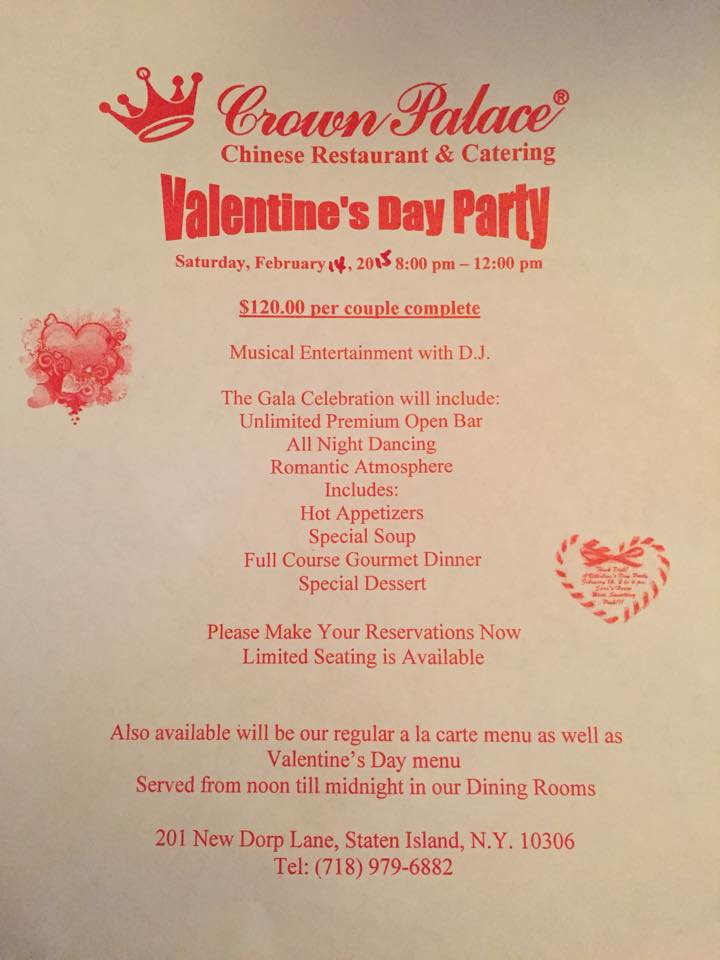 dining out on valentines day in staten island local restaurant scoop. Black Bedroom Furniture Sets. Home Design Ideas